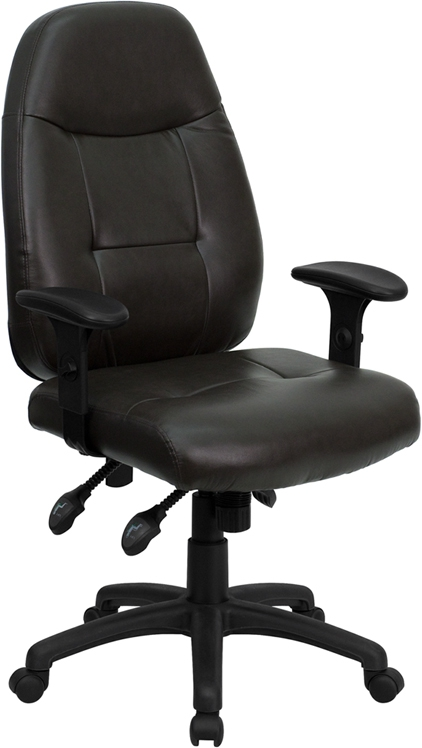 Flash Furniture High Back Espresso Brown Leather Executive Office Chair [BT-2350-BRN-GG]