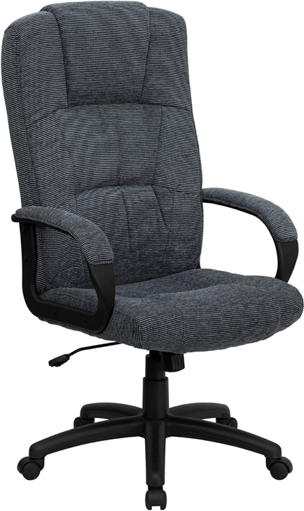 Flash Furniture High Back Gray Fabric Executive Office Chair [BT-9022-BK-GG]