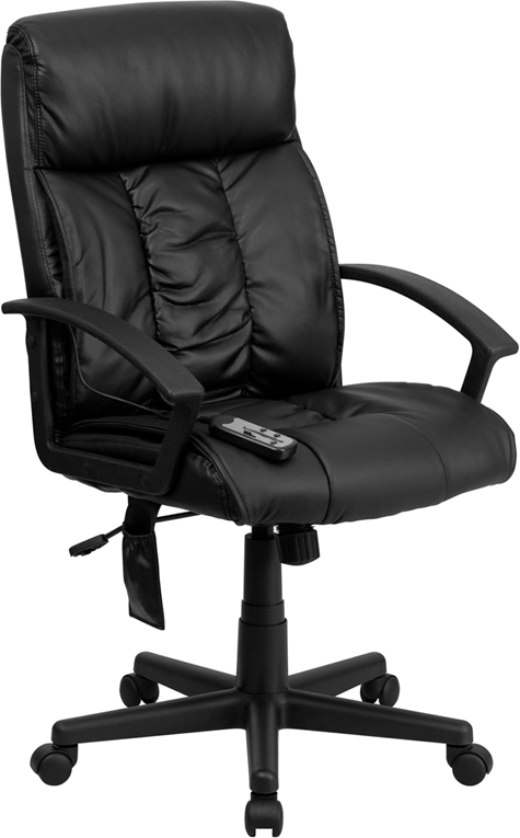 Flash Furniture High Back Flash Furniture Massaging  Black Leather Executive Office Chair [BT-9578P-GG]