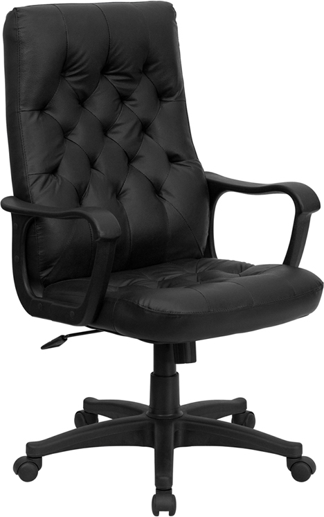 Flash Furniture High Back Traditional Black Leather Executive Swivel Office Chair [CP-A136A01-GG]