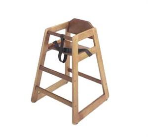 GET Enterprises HC-100W-2 Commercial High Chair, Hardwood, Walnut, Assembled (2 Pieces)