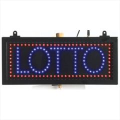 """Aarco LOT04S High Visibility LED LOTTO Sign 6 3/4"""" x 16 1/8"""""""