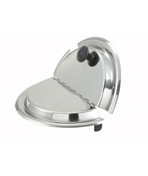 Winco INSH-7 Stainless Steel Hinged Inset Cover, 7 Qt.
