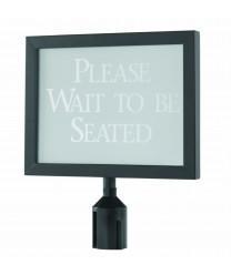 """Aarco HSF1114BK Form-A-Line Black Sign Frame 14-1/8""""W x 11-1/8""""H"""