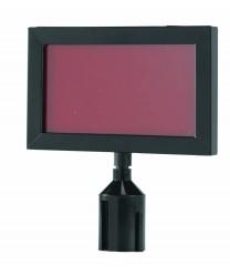 """Aarco HSF811BK Form-A-Line Black Sign Frame 11-1/8""""W x 8-5/8""""H"""