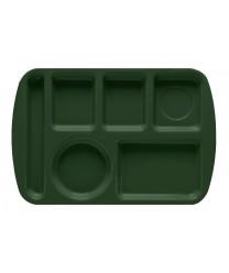 "GET Enterprises TL-151-HG Hunter Green Melamine Left Hand 6 Compartment Tray, 9 -1/2""x 14-3/4""(1 Dozen)"