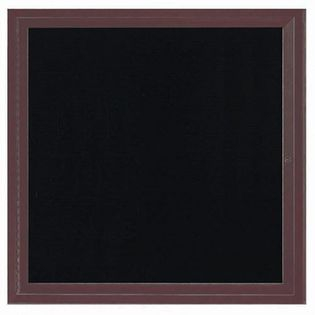 Aarco ADC3636IBA Indoor Illuminated Enclosed Directory Board with Bronze Anodized Aluminum Frame 36