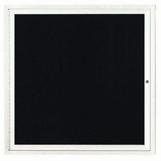 Aarco ADC3636IW Indoor Illuminated Enclosed Directory Board with White Anodized Aluminum Frame 36