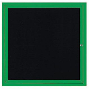 Aarco ADC3636G Indoor Enclosed Directory Board with Green Anodized Aluminum Frame  36