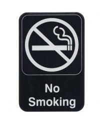Winco SGN-601 Information Sign ''No Smoking'' 6'' X 9''
