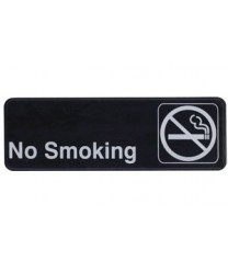 """Winco SGN-310 Information Sign  ''No Smoking''  3"""" x 9"""""""