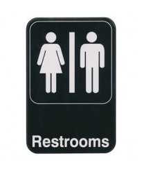 "Winco SGN-603 Information Sign  ''Restrooms''  6"" x 9"""