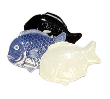 "GET Enterprises 370-12-IV Creative Table Ivory Fish Platter, 12""x 8-1/4""(1 Dozen)"