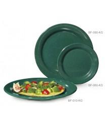 "GET Enterprises BF-090-KG Kentucky Green Round Plate, 9""(2 Dozen)"