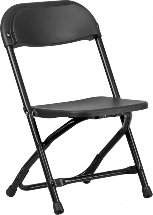 Flash Furniture Kids Black Plastic Folding Chair [Y-KID-BK-GG]