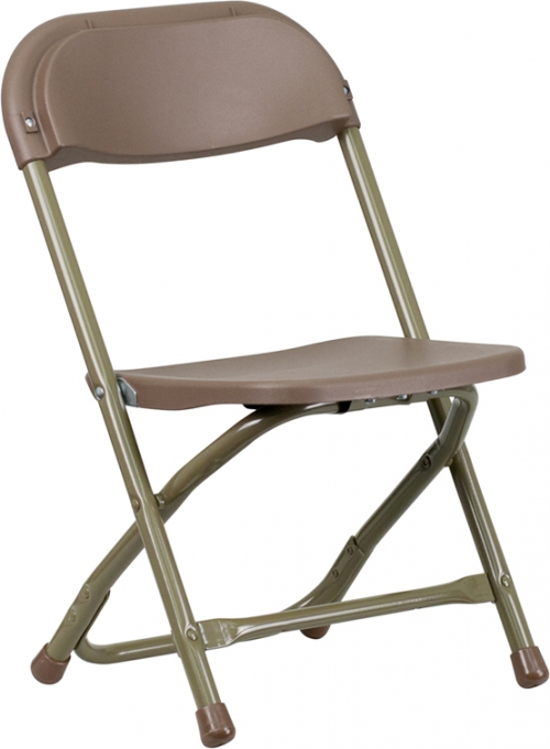 Flash Furniture Kids Brown Plastic Folding Chair [Y-KID-BN-GG]