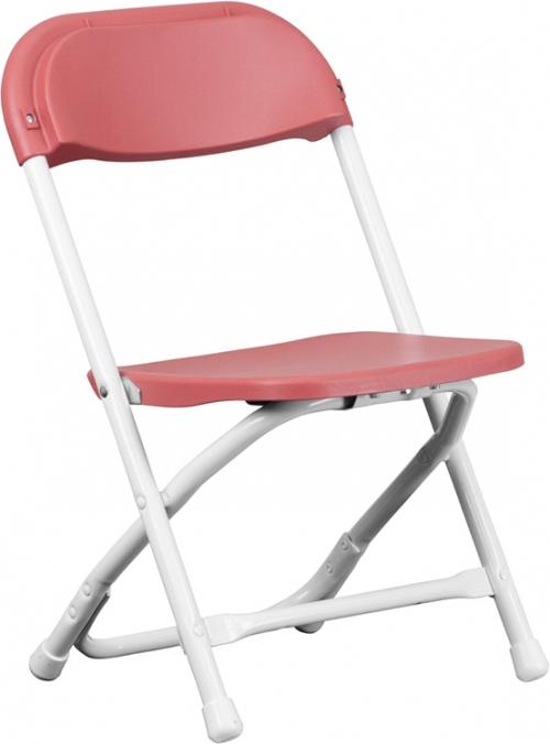 Flash Furniture Kids Burgundy Plastic Folding Chair [Y-KID-BY-GG]