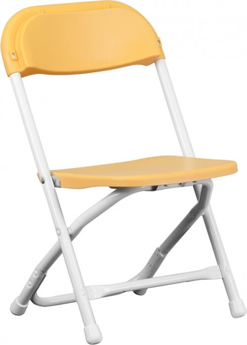 Flash Furniture Kids Yellow Plastic Folding Chair [Y-KID-YL-GG]