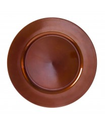 "10 Strawberry Street LACPR-24 Lacquer Round Copper Charger Plate 13"" (Case of 24)"