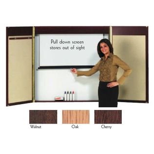 """Aarco WC-2 Walnut Laminate Conference Cabinet 48"""" x 48"""""""