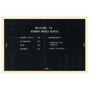 "Aarco SDC4872IV Enclosed Directory Board with Sliding Doors and Ivory Powder Coated Aluminum Frame  48"" x 72"""