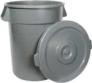 Winco PTCL-44 Grey Lid For 44 Gallon Trash Can