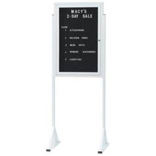 "Aarco FMD3630 Double Pedestal Free Standing Letter Board with Aluminum Frame 36"" x 30"""