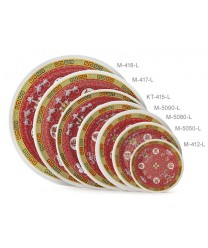 "GET Enterprises KT-415-L Longevity Melamine Round Plate, 12""(1 Dozen)"