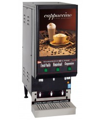 Grindmaster-Cecilware GB3LP-LD Low Profile Three-Flavor Cappuccino Dispenser with Lit Door