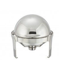 Winco 602 Madison Round Roll Top Chafer, 7 Qt.