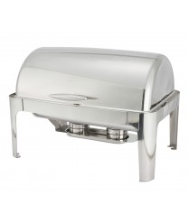 Winco 601 Madison Full Size Roll Top Chafer 8 Qt.