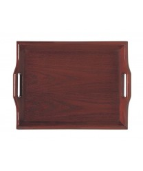 "GET Enterprises RST-1814-M Hardwood Mahogany Room Service Tray, 18""x 14""(6 Pieces)"
