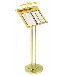 Aarco MD-1 Brass Maitre D Hostess Station with Display Light