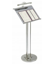 Aarco MD-2 Chrome Maitre D Hostess Station with Display Light