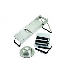 Winco MDL-15 Stainless Steel Mandoline Slicer Set