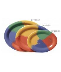 "GET Enterprises OP-120-CE Diamond Mardi Gras Oval Platter, 12""x 9""(1 Dozen)"