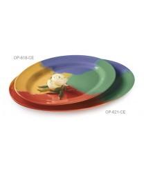 "GET Enterprises OP-618-CE Diamond Mardi Gras Oval Platter, 18""x 13-1/2""(1 Dozen)"