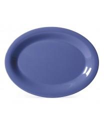 "GET Enterprises OP-120-PB Diamond Mardi Gras Peacock Blue Oval Platter, 12""x 9""(1 Dozen)"