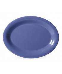"GET Enterprises OP-135-PB Diamond Mardi Gras Peacock Blue Oval Platter, 13-1/2""x 10-1/4""(1 Dozen)"