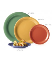 "GET Enterprises NP-10-FG Diamond Mardi Gras Rainforest Green Narrow Rim Plate, 10-1/2""(1 Dozen)"