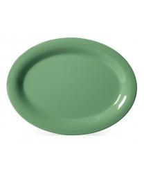 """GET Enterprises OP-120-FG Diamond Mardi Gras Rainforest Green Oval Platter, 12""""x 9""""(1 Dozen)"""