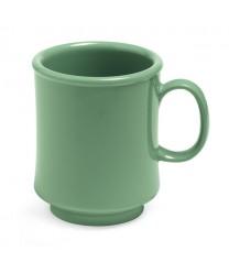 GET Enterprises TM-1308-FG Mardi Gras Rainforest Green Plastic Mug, 8 oz. (2 Dozen)