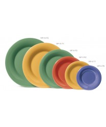 "GET Enterprises WP-7-FG Diamond Mardi Gras Rainforest Green Wide Rim Plate, 7-1/2""(4 Dozen)"