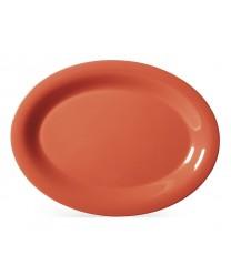 "GET Enterprises OP-135-RO Diamond Mardi Gras Rio Orange Oval Platter, 13-1/2""x 10-1/4""(1 Dozen)"