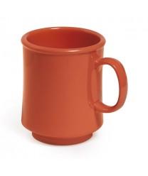 GET Enterprises TM-1308-RO Mardi Gras Rio Orange Plastic Mug, 8 oz. (2 Dozen)