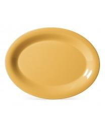 "GET Enterprises OP-120-TY Diamond Mardi Gras Tropical Yellow Oval Platter, 12""x 9""(1 Dozen)"