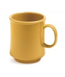GET Enterprises TM-1308-TY Mardi Gras Tropical Yellow Plastic Mug, 8 oz. (2 Dozen)