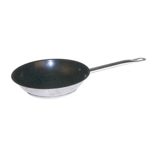Winco SSFP-12NS Master Cook Stainless Steel Non-Stick Fry Pan with Helper Handle 12""