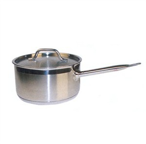 Winco SSSP-4 Stainless Steel Sauce Pan with Cover 4-1/2 Qt.