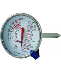 Winco TMT- MT2 Dial Type Meat Thermometer with Stem 2""